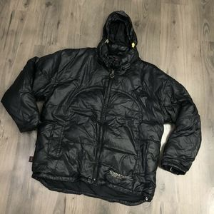 Vintage Tommy Jeans Puffer Jacket with Hood Black